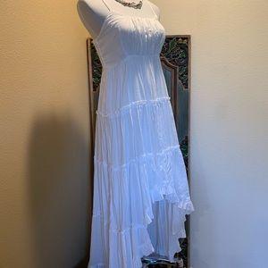 White Bohemian high-low dress.